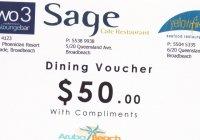 Free $50 restaurant voucher